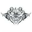 Tribal Orchid Lower Back Temporary Tattoo - Tribal Orchid Lower Back Temporary Tattoo