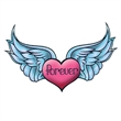 Winged Forever Heart Temporary Tattoo - Winged Forever Heart Temporary Tattoo