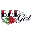 Bad Girl Rose Temporary Tattoo - Bad Girl Rose Temporary Tattoo