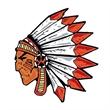 Indian with Headdress Temporary Tattoo - Small Indian Warrior Temporary Tattoo