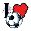 I Heart Soccer Temporary Tattoo - I Heart Soccer Temporary Tattoo