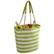Fashion Cooler Tote - Fashion cooler tote with inside pocket. 22 can capacity. Unique clip on handle details. 600D Polycanvas.