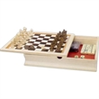 "6-in-1 Combination Game Set in Wooden Case - 6-in-1 combination game set. 11"" x 11""."