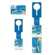 Loopless Tag with Card - Loopless bag tag with card