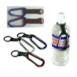 Carabiner with heavy gauge nylon strap and rubber string - Carabiner with heavy gauge nylon strap and rubber string