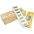 Domino Set - Domino set, 28 piece melamine dominos with metal spinners.