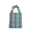 Fashion Plaid Beach Tote Bag - Blank ladies' beach tote bag.