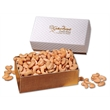 Extra Fancy Jumbo Cashews in White Pillow-Top Gift Box - white pillow-top gift box filled with extra fancy jumbo cashews