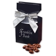 Chocolate Covered Almonds in Navy Gift Box - navy gift box filled with chocolate covered almonds