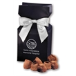 Cocoa Dusted Truffles in Navy Gift Box - navy gift box filled with cocoa dusted truffles