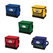 6-Can Cooler - Deluxe 6-can cooler with webbed pocket and foldaway bottom stiffener.