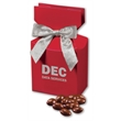 Chocolate Covered Almonds in Red Gift Box - red gift box filled with chocolate covered almonds