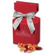 Deluxe Mixed Nuts in Red Gift Box - red gift box filled with deluxe mixed nuts
