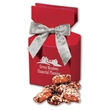 English Butter Toffee in Red Gift Box - red gift box filled with english butter toffee