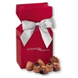 Cocoa Dusted Truffles in Red Gift Box - red gift box filled with cocoa dusted truffles