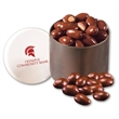 Chocolate Covered Almonds in Designer Tin - designer tin filled with chocolate covered almonds