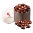 Chocolate Covered Almonds in Designer Tin - designer tin filled with chocolate covered almonds
