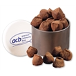 Cocoa Dusted Truffles in Designer Tin - designer tin filled with cocoa dusted truffles