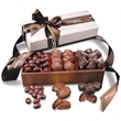Chocolate Bliss - white pillowtop gift box with turtles, caramels, and chocolate almonds