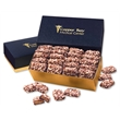 English Butter Toffee in Navy & Gold Gift Box - Navy and gold gift box filled with english butter toffee