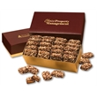 English Butter Toffee in Burgundy & Gold Gift Box - Burgundy and gold gift box filled with english butter toffee