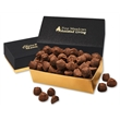 Cocoa Dusted Truffles in Black & Gold Gift Box - Black and gold gift box filled with cocoa dusted truffles
