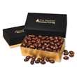 Chocolate Covered Almonds in Black & Gold Gift Box - Black and gold gift box filled with chocolate covered almonds