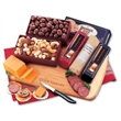 Party Starter - cutting board with cheese, sausage, crackers, and other food items