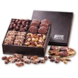 President's Choice - faux leather gift box filled with nuts and chocolates