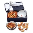 Rombe Bowl with Deluxe Mixed Nuts - Rombe bowl with deluxe mixed nuts in a navy gift box
