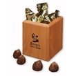 Hardwood Pen & Pencil Cup with Cocoa Dusted Truffles - Hardwood pen and pencil cup with cocoa dusted truffles