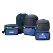 Backpack with Cooler - 600 D polyester foldable backpack with can cooler and adjustable backpack strap.