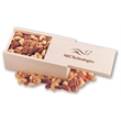 Deluxe Mixed Nuts in Wooden Collector's Box - wooden collector's box filled with deluxe mixed nuts