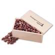 Chocolate Covered Almonds in Wooden Collector's Box - wooden collector's box filled with chocolate covered almonds