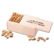Choice Virginia Peanuts in Wooden Collector's Box - wooden collector's box filled with choice Virginia peanuts
