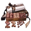 Chocolate Fantasy - white pillowtop gift box with turtles, toffee, and chocolate almonds