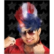 BLANK LED Mohawk Wig - Patriotic - BLANK LED Mohawk Wig - Patriotic