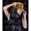 BLANK LED Sequin Fedora - Gold - BLANK LED Sequin Fedora - Gold