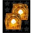 BLANK LED Light Up Ice Cubes - Orange - BLANK LED Light Up Ice Cubes - Orange