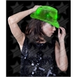 BLANK LED Sequin Fedora - Green - BLANK LED Sequin Fedora - Green