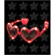 BLANK LED Heart Sunglasses - Red - BLANK LED Heart Sunglasses - Red
