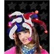 BLANK LED Jester Hat - Red-White-Blue - BLANK LED Jester Hat - Red-White-Blue