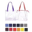 """Clear Security Tote - Clear Security Tote with Zipper features Poly web handles:1.5"""" W x 26 """" L Made in the USA."""