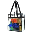 CLEAR NFL STADIUM TOTE BAG - Transparent clear NFL stadium tote Bag clears security and is approved by the NFL