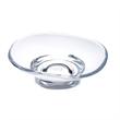 """Contemporary Soap Dish - Acrylic soap dish, 5 1/4"""" x 4 3/4"""" x 2"""" h."""
