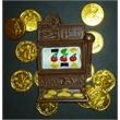 Slot Machine - Milk chocolate slot machine in casino bag