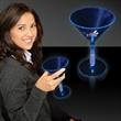 Blue 8 1/2 oz. Martini Glass with Glow Light Up Base