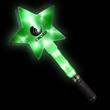"Huge Green 12"" Flashing Light Up Glow LED Star Wand"
