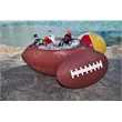 Football Shape Chest with Snap On Lid - Football shaped chest with snap on lid.