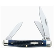 Blue Bone Medium Stockman - Medium stockman knife, clip, sheepfoot and pen blades.